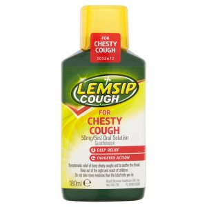 Lemsip Cough for Chesty Cough Oral Solution 180ml