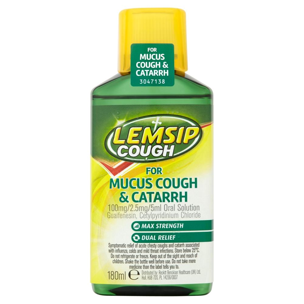 Lemsip Mucus Cough & Catarrh Oral Solution 180ml