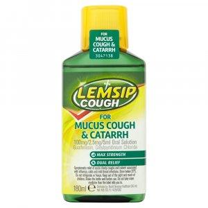 Lemsip Mucus Cough & Catarrh Oral Solution 180ml