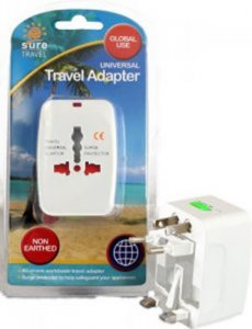 Sure Travel Universal Travel Adapter Non Earthed