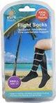 Sure Travel Flight Socks Black Small Size 3 - 5
