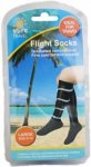 Sure Travel Flight Socks Black Large Size 9 - 12