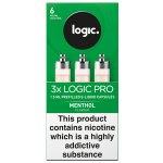 Logic Pro E-Liquid Capsules 6mg Menthol Flavour Pack of 3