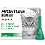 Frontline Plus Spot On Cat Pipettes Pack of 3