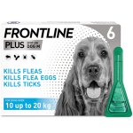 Frontline Plus Spot On Medium Dog Pipettes Pack of 6