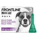 Frontline Plus Spot On Large Dog Pipettes Pack of 3