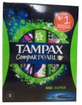 Tampax Compak Pearl Super Pack of 8