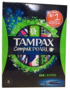 Tampax Compak Pearl Super Pack of 8