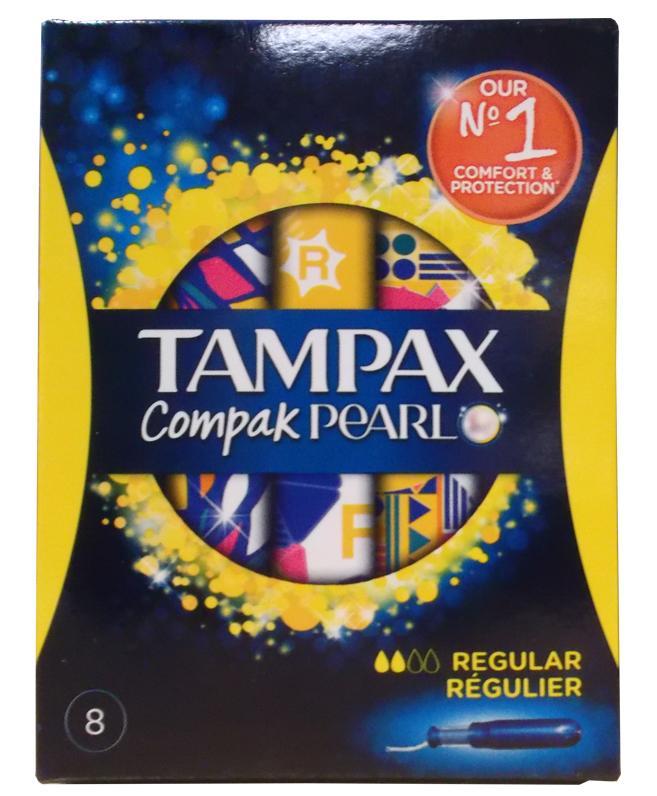 Tampax Compak Pearl Regular Pack of 8