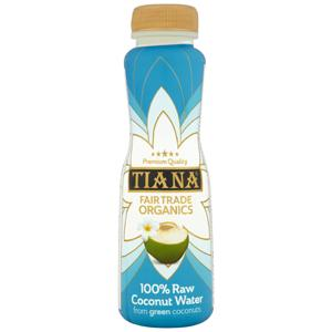 Tiana Fair Trade Organics 100% Raw Coconut Water 350ml