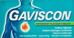 Gaviscon 250mg Peppermint Tablets Pack of 24