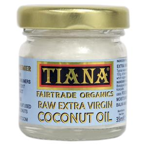 Tiana Fair Trade Organics Raw Extra Virgin Coconut Oil 35ml