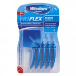 Wisdom Pro Flex Interdental Brushes 0.6mm Blue Pack of 5