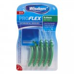 Wisdom Pro Flex Interdental Brushes 0.8mm Green Pack of 5