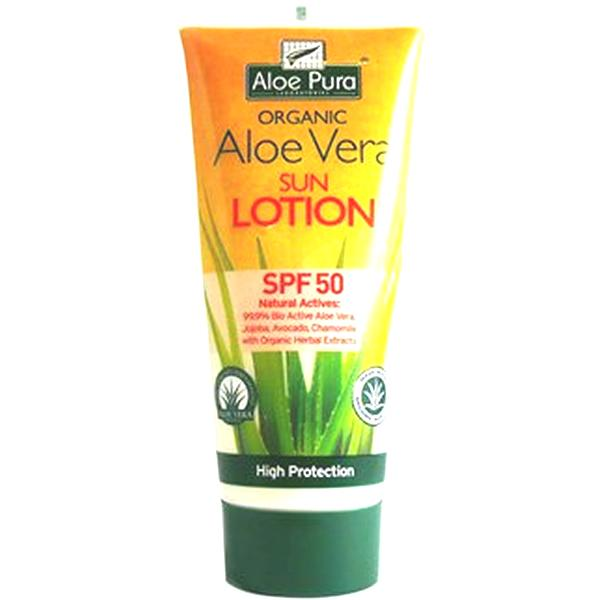 Aloe Pura Organic Aloe Vera Sun Lotion SPF50 200ml