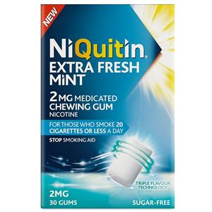 Niquitin Extra Fresh Mint Gum 2mg Pack of 30