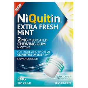 Niquitin Extra Fresh Mint Gum 2mg Pack of 100