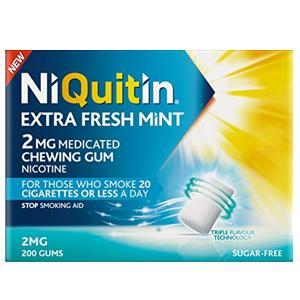 Niquitin Extra Fresh Mint Gum 2mg Pack of 200