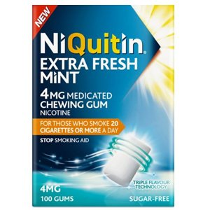 Niquitin Extra Fresh Mint Gum 4mg Pack of 100