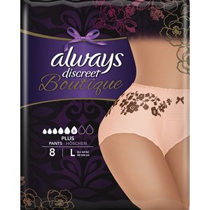 Always Discreet Boutique Pants Plus Large Pack of 8