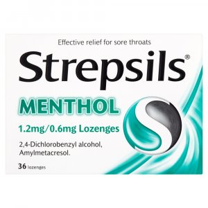 Strepsils Menthol Lozenges Pack of 36