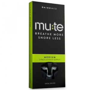 Mute Nasal Dilator Medium Breathe More, Snore Less (Pack of 3, 30 night supply)