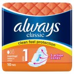 Always Classic Normal Size 1 Pads Pack of 10