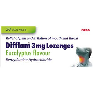 Difflam 3mg Eucalyptus Lozenges Pack of 20