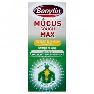 Benylin Mucus Cough Max Honey & Lemon Syrup 300ml