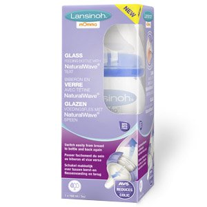 Lansinoh Glass Feeding Bottle 160ml
