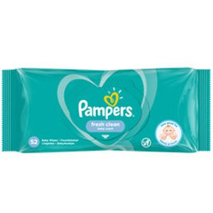 Pampers Fresh Clean Baby Wipes Pack of 52