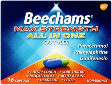 Beechams Max Strength All in One Capsules Pack of 16