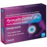 Pyrocalm Control Omeprazole 20mg Gastro-Resistant Tablets Pack of 14