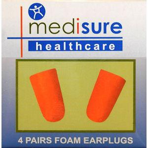 Medisure Foam Earplugs Pack of 4