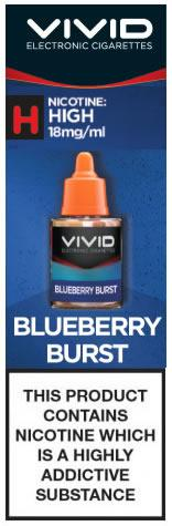 Vivid High Strength E-Liquid Blueberry Burst