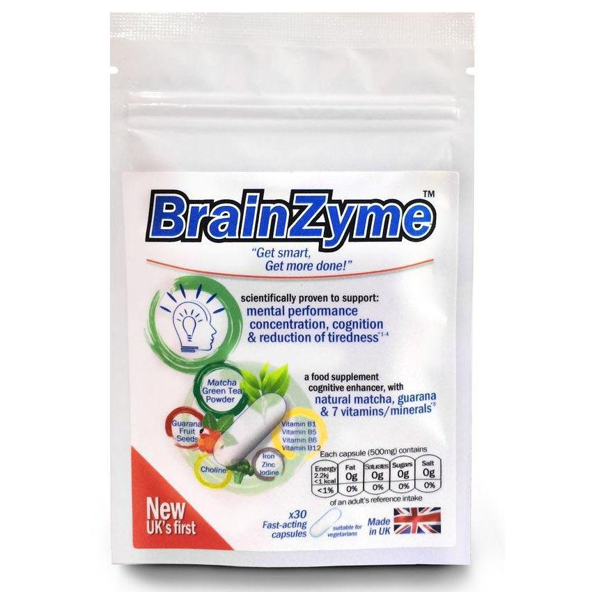 BrainZyme Brain Food Supplement Capsules Pack of 30