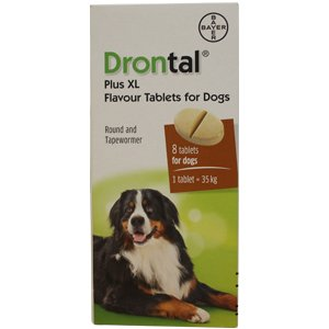 Drontal Plus XL Tablets for Dogs Pack of 8