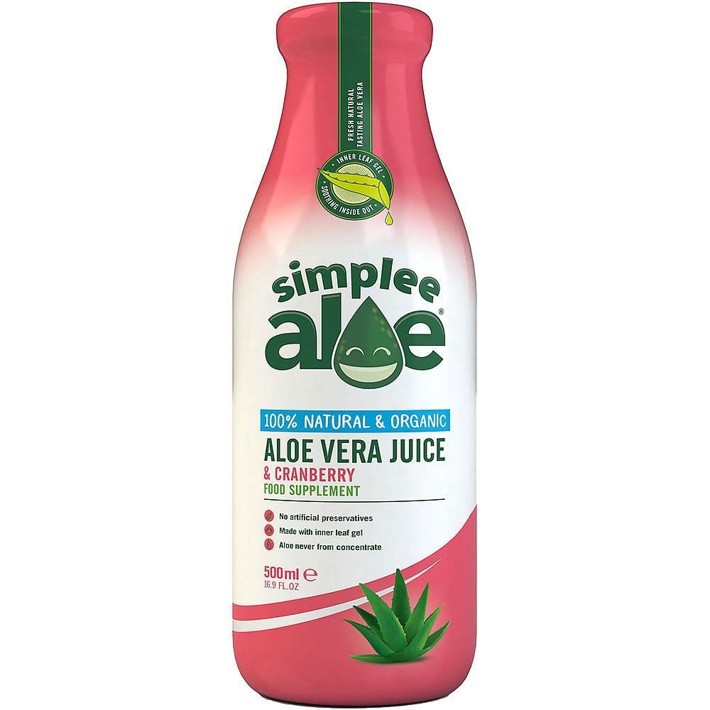 Simplee Aloe Cranberry Flavour Organic Aloe Vera Juice 500ml