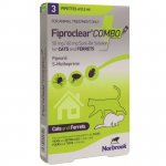 Fiproclear Combo for Cats and Ferrets Pipettes Pack of 3