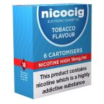 Nicocig Refills High Strength 16mg Tobacco Flavour Pack of 6 (5 Packs)