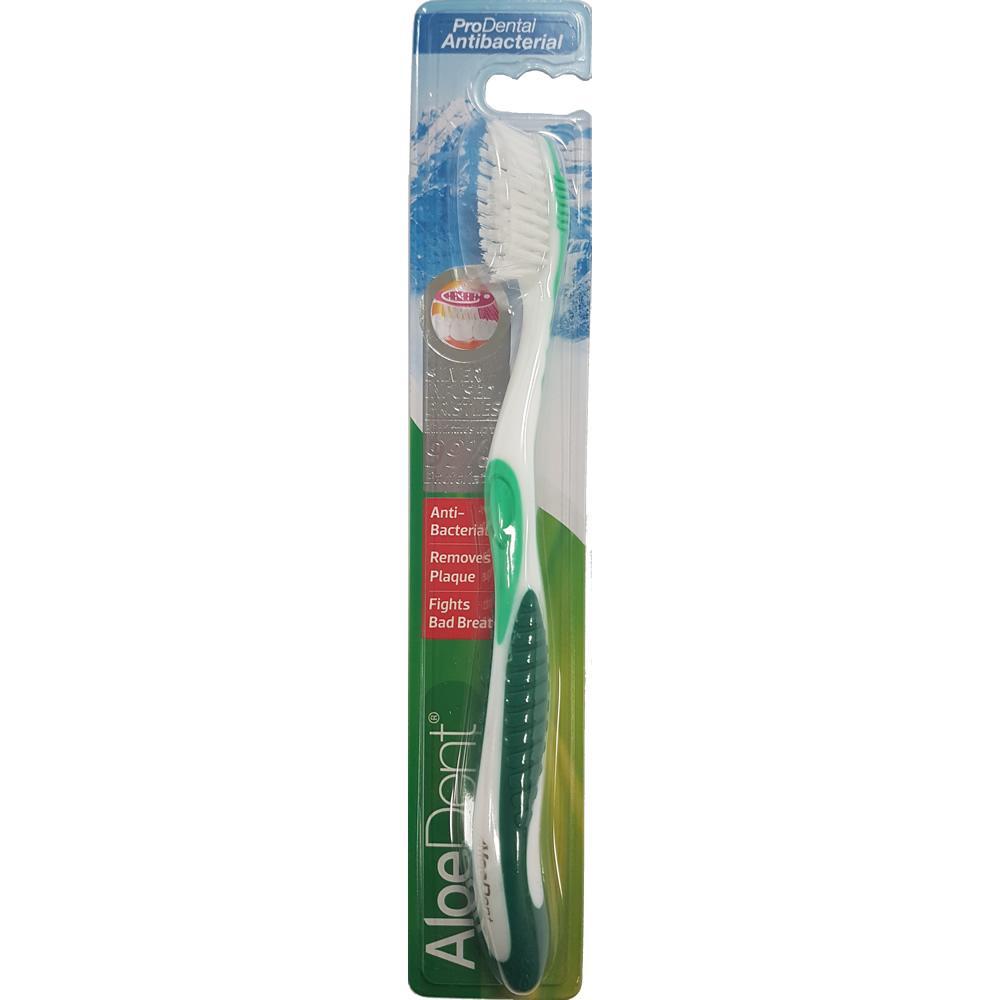 Aloe Dent ProDental Antibacterial Toothbrush Green