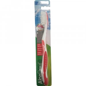 Aloe Dent ProDental Antibacterial Toothbrush Red