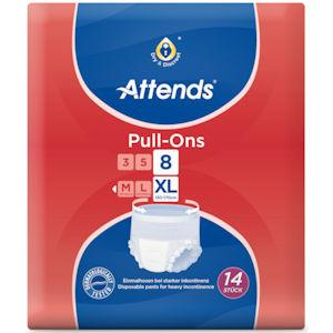 Attends Pull-Ons 8 Extra Large Pack of 14