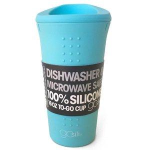 Gosili Silicone 16oz To Go Coffeetea Cup Sea Blue