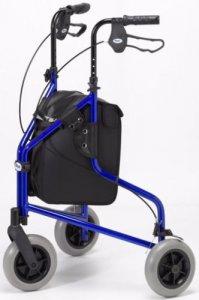 Patterson Medical Tri Wheel Walker Lightweight Aluminium Blue