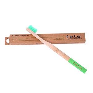 F.E.T.E Firm Bamboo Toothbrush Light Green