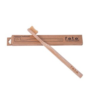 F.E.T.E Firm Bamboo Toothbrush Natural