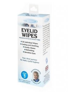 The Body Doctor Eyelid Wipes Pack of 30