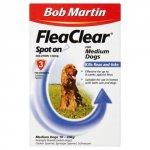 Bob Martin FleaClear Spot On for Medium Dogs 10 - 20kg Pack of 3