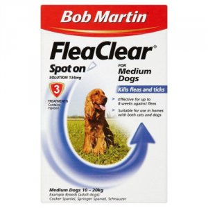 Bob Martin FleaClear Spot On for Medium Dogs 10 - 20kg Pack of 3